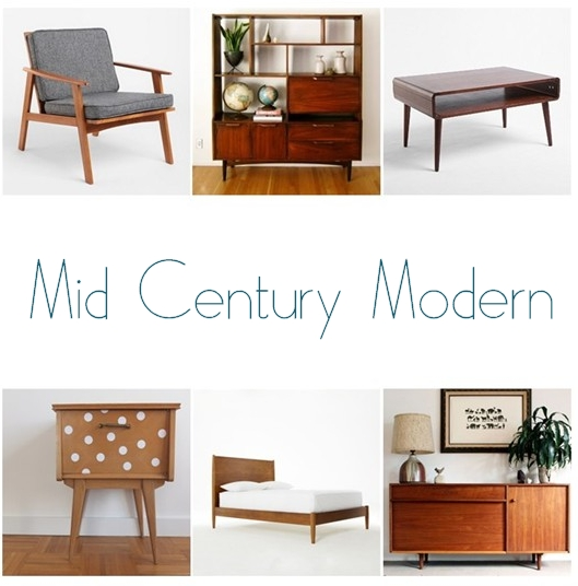 mid century modern collage